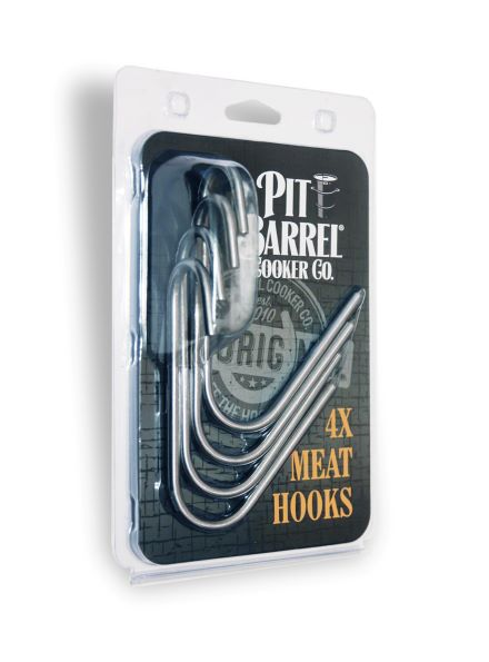 4 x Meat Hanging Hooks for use with Pit Barrel Cooker