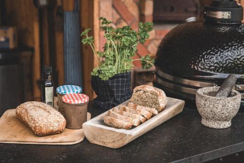 BBQ baked bread ready