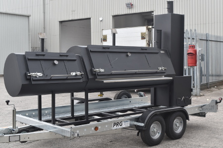 4.5m Catering Trailer With Grill, Reverse Flow Smoker and Warming Oven